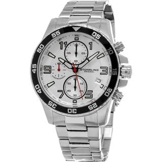 Stuhrling Original Men's Concorso Chrono Quartz Stainless Steel Bracelet Watch|https://ak1.ostkcdn.com/images/products/10756456/P17809989.jpg?impolicy=medium