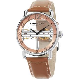 Stuhrling Original Men's Mechanical Skeleton Leather Strap Watch|https://ak1.ostkcdn.com/images/products/10756458/P17809991.jpg?impolicy=medium