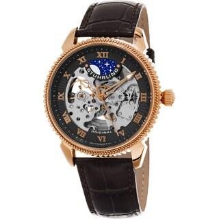 Stuhrling Original Men's Automatic Special Reserve Leather Strap Watch