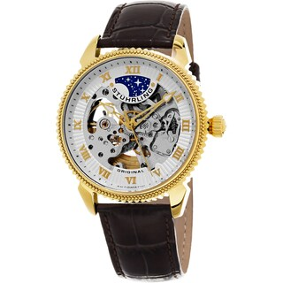 Stuhrling Original Men's Automatic Special Reserve Leather Strap Watch