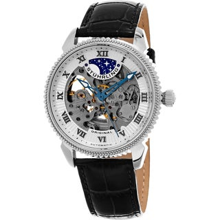 Link to Stuhrling Original Men's Automatic Special Reserve Leather Strap Watch Similar Items in Men's Watches