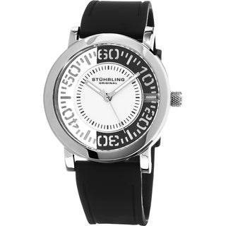 Stuhrling Original Men's Quartz Rubber Strap Watch