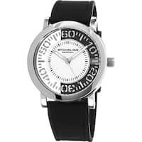 Stuhrling Original Men's Quartz Rubber Strap Watch