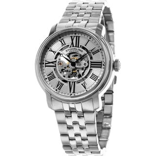 Stuhrling Original Men's Automatic Atrium Stainless Steel Bracelet Watch (2 options available)
