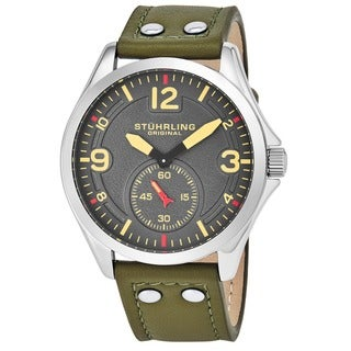 Link to Stuhrling Original Men's Quartz Tuskegee Leather Strap Watch Similar Items in Men's Watches