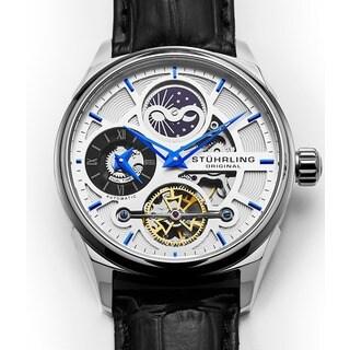 Stuhrling Original Men's Automatic Delphi Leather Strap Watch