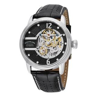 Stuhrling Original Men's Automatic Prospero Classic Leather Strap Watch