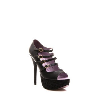 Gomax Women's Shoe PRESTIGE 08 High Heel Peep Toe Platform Gladiator Pump