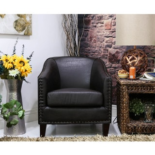 Somette Giles San Lorenzo Espresso Barrel Chair