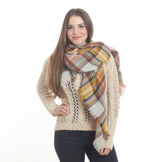 Plaid Design Shawl