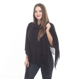 Knitted Design Poncho