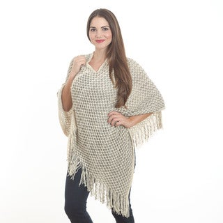 Honeycombed Design Poncho