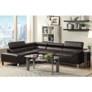 Tiachiv 2-piece Sectional Sofa Upholstered in Bonded Leather