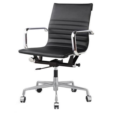 M348 Vegan Leather Office Chair Black