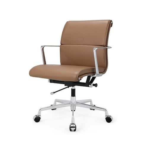 M347 Brown Italian Leather Office Chair