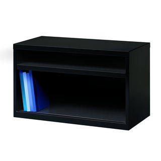 Black Open 36-inch Low Credenza