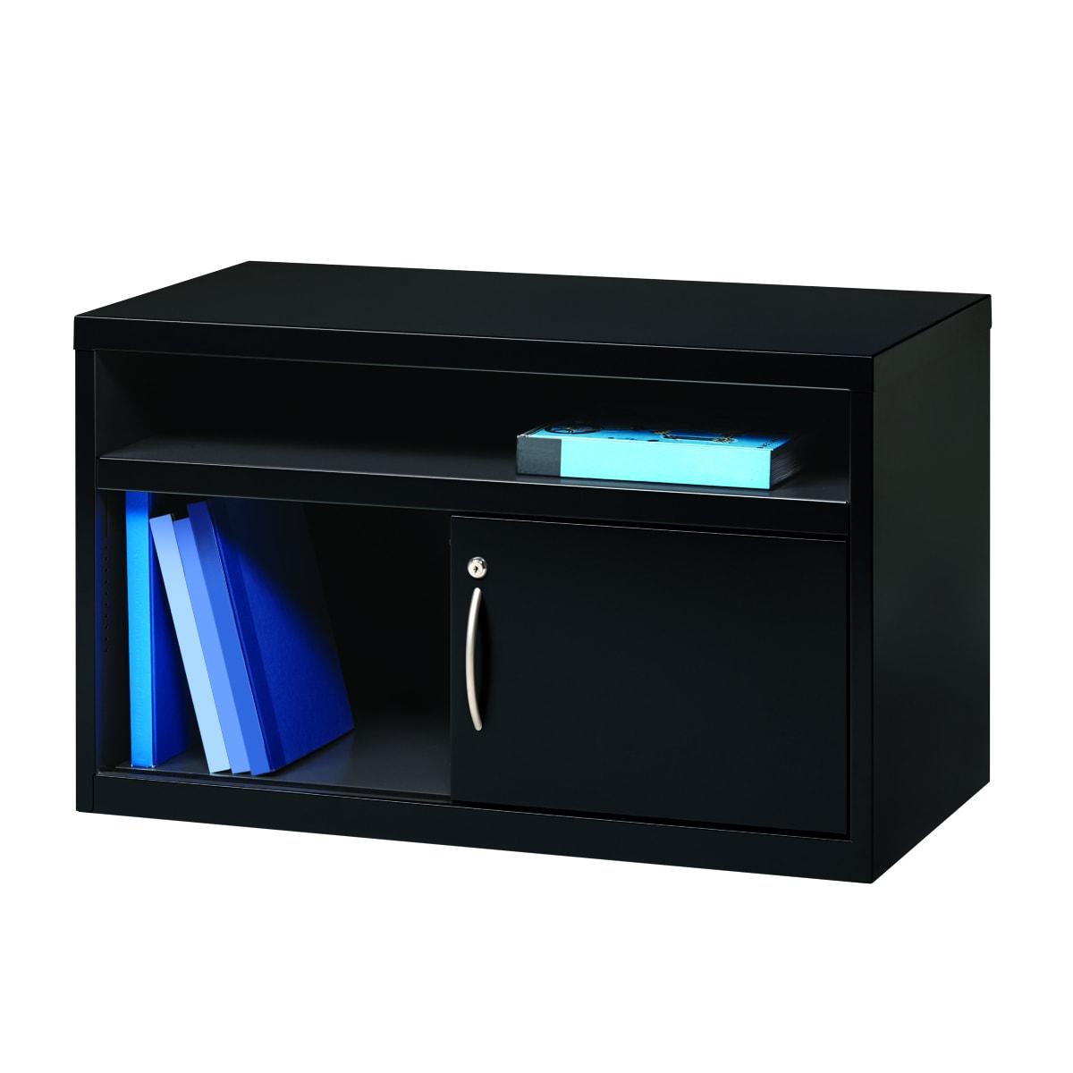 Hirsh Industries 36-inch Black Low Credenza with Door (Bl...