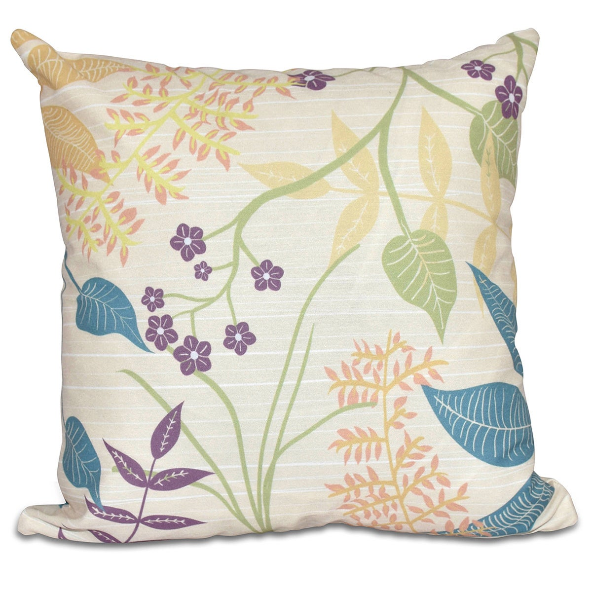 Botanical Floral Print Pillow (Grey)