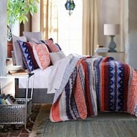 Greenland Home Fashions Urban Boho Oversized Cotton 3-piece Quilt Set