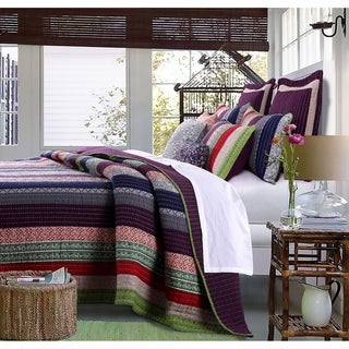 Link to Greenland Home Fashions Marley Oversized Cotton 3-piece Quilt Set Similar Items in Quilts & Coverlets