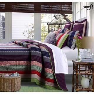Greenland Home Fashions Marley Oversized Cotton 3-piece Quilt Set|https://ak1.ostkcdn.com/images/products/10756722/P17810228.jpg?impolicy=medium