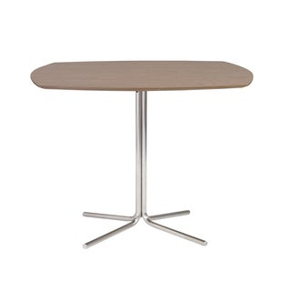 Erling Bistro Table - Walnut/Stainless Steel