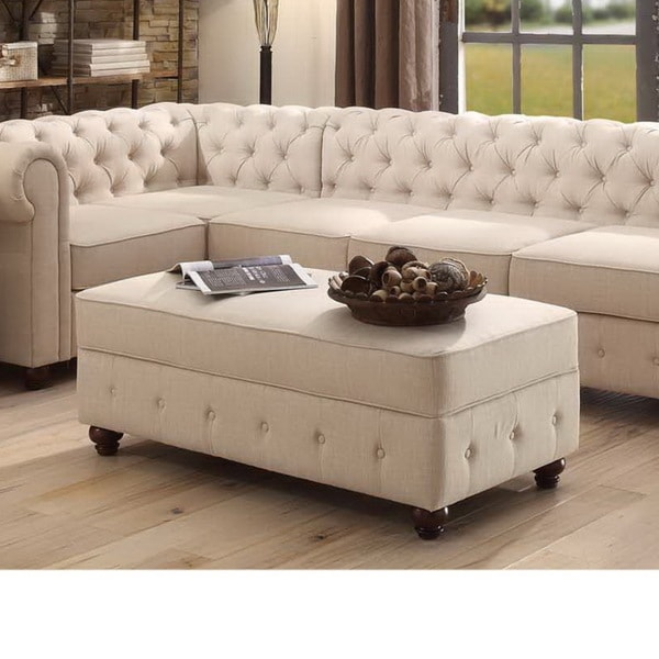 Moser Bay Furniture Garcia Tufted Rectangle Storage Ottoman - Moser Bay Furniture Garcia Tufted Rectangle Storage Ottoman - Free