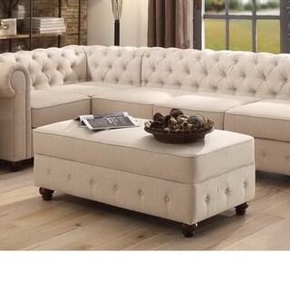 Moser Bay Furniture Garcia Tufted Rectangle Storage Ottoman