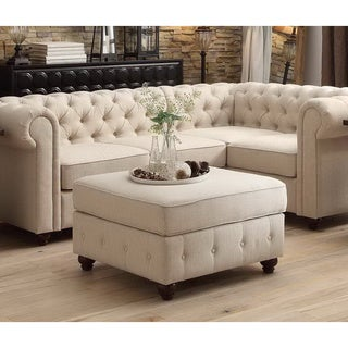 Moser Bay Furniture Garcia Tufted Squared Ottoman