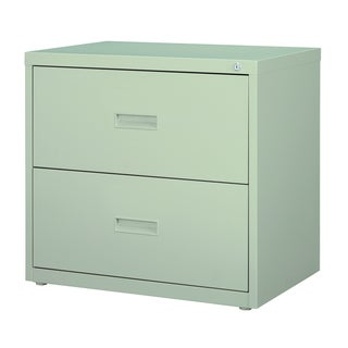 Light Grey 2-drawer Lateral 30-inch File Cabinet