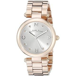 Marc Jacobs Women's MJ3449 'Dotty' Rose-Tone Stainless Steel Watch|https://ak1.ostkcdn.com/images/products/10756858/P17810347.jpg?impolicy=medium