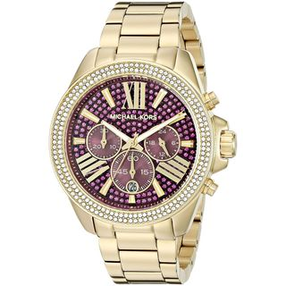 Michael Kors Women's MK6290 'Wren' Chronograph Crystal Gold-Tone Stainless Steel Watch