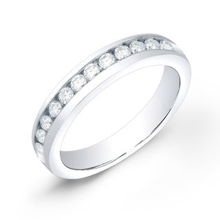 Auriya 14k Gold 1/2ct TDW Round-Cut Diamond Channel Band (H-I, SI1-SI2)