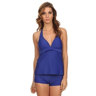 Dippin' Daisy's Royal Blue Halter Tankini with Boyshort