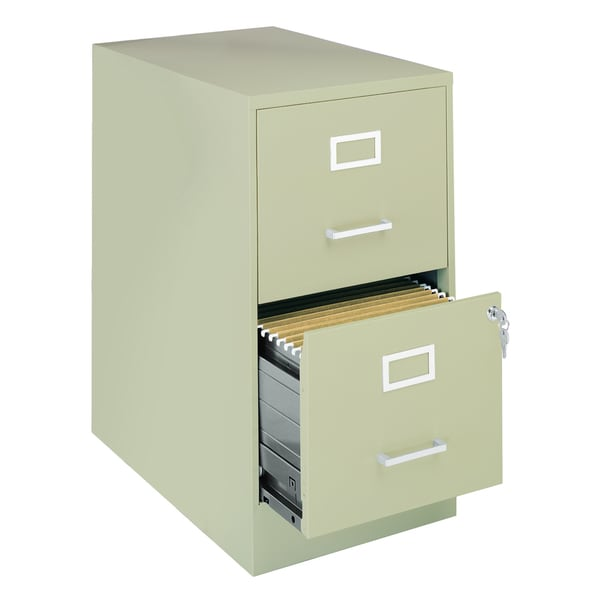 office designs 22 inch deep 2 drawer steel file cabinet