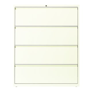 Hirsh HL10000 White 4-drawer Commercial 42-inch Lateral File Cabinet