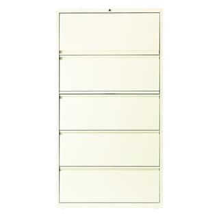 Hirsh HL10000 Series 36-inch 5-drawer One Binder Commercial Lateral File Cabinet