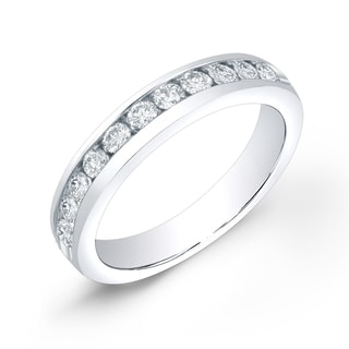 Auriya 14k Gold 2/5ct TDW Round Cut Diamond Channel Band