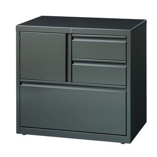 Hirsh HL8000 Medium Grey Tone Personal Storage Center 30 Inch Lateral File  Cabinet