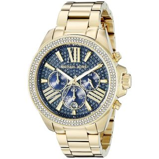 Michael Kors Women's MK6291 'Wren' Chronograph Crystal Gold-Tone Stainless Steel Watch