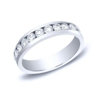 Auriya 14k Gold 3/4ct TDW Round-Cut Diamond Channel Set Wedding Band (H-I, SI1-SI2)