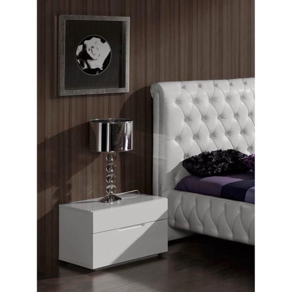 Luca Home Nightstand 2-drawer White