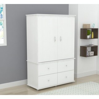 Inval Larcinia White Audio Video Armoire Cabinet