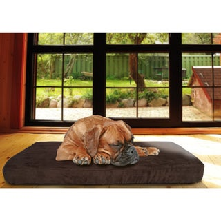 Furhaven Quilted Suede Memory Foam Bed