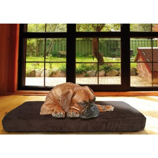 FurHaven Quilted Faux Suede/ Memory Foam Bed