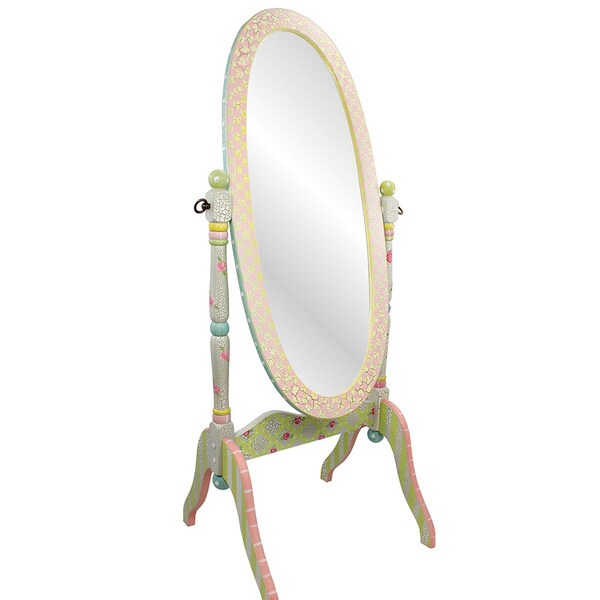 Teamson Fantasy Fields Crackled Rose Standing Mirror