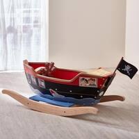 Teamson Fantasy Fields Pirates Island Rocker Boat with Accessories