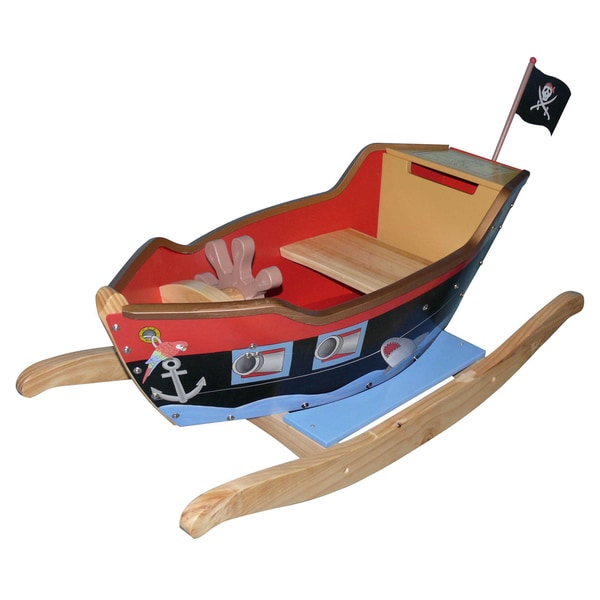 Teamson Fantasy Fields Pirates Island Rocker Boat with Accessories