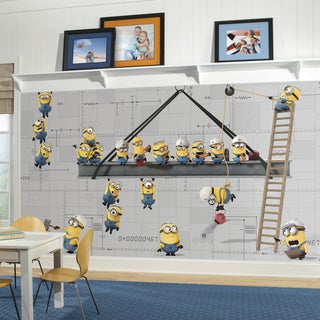 Minions at Work XL Chair Rail Prepasted Mural