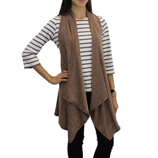 Relished Women's 'Fully Vested' Tan Sweater Vest